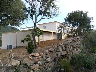 villa neuve vue mer 8 personnes propriété privée