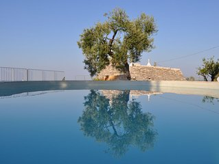 Luxury Trullo with WIFI,  private pool and amazing panoramic sea views