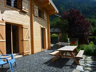 Demi-Chalet Les Houches-Chamonix Mont Blanc, 2 chambres, terrasse privée