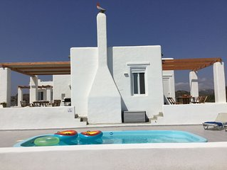 Sea Breeze Traditional Villa West: Brand new pool! Great Aegean Sea View!