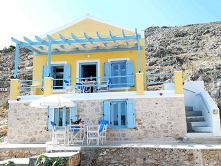Chalki Panorama, a traditional island home with an amazing island's view!