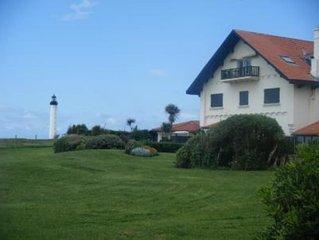 splendide appartement dominant la mer et la ville de Biarritz