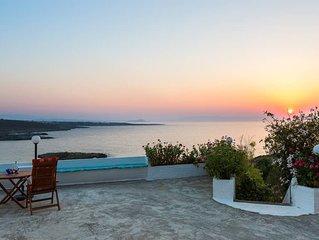 Kalathas Sunset Villa - 3BR Sea View