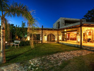 Villa Minoa With Small Private Beach And Surprising Sea and Mountain Views