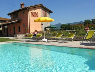 Beautiful private villa with WIFI, A/C, private pool, TV, terrace, panoramic vie
