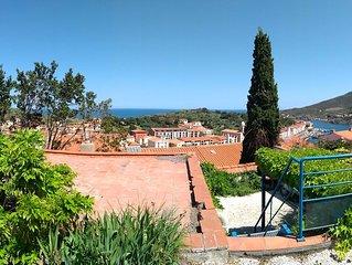 Maison indépendante vue sur mer, jardin et pergola