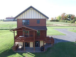 Large Deluxe Log Home in Finger Lakes overlooking Western Shores Seneca Lake