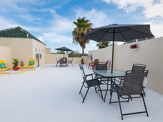 Boqueron Bay Villas 1005 walkup penthouse w/open terrace, WiFi, A/C, laundry.