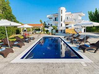 close to sandy beach in Faliraki Villa with private pool