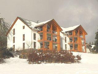 Nieuw 4-6 pers. appartement: prachtig vrij uitzicht; 's winters ski in/ski out!
