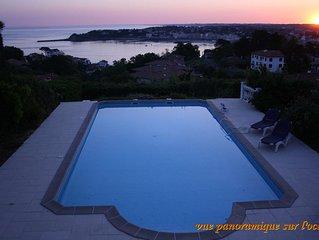 Villa de caractere vue sur mer, piscine