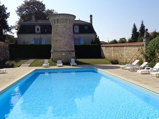 Chateau De Charras Apartment for 2/3 persons  Heated swimming pool