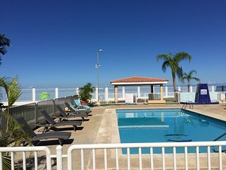 Steps from the beach, WiFi, 3 bedroom condo at Punta Arenas, Cabo Rojo, sleeps 8