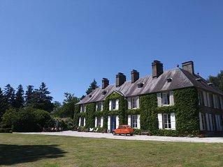 Chateau w/private heated Pool 88  acres sleeps 12+ ,5 1/2bathrooms, pond