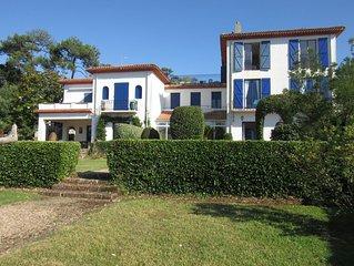 Appartement grand  standing sur golf chiberta, 180 m2, 6 pers, jardin privatif