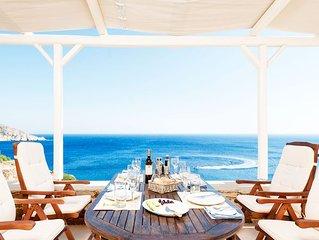 Athina Villa Ios-Luxury Villa with stunning seaview (3 BDR)