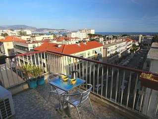 F1  36 m² vue mer à 300 m  des plages avec parking fermé classé 3 étoiles