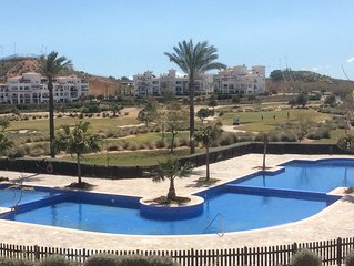 Superb apartment large balcony on stunning golf resort Free WiFi sleeps up to 6.