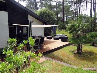 MAGNIFIQUE : Villa Calme - Moderne  - Surf - Bordure de foret - Plage a pied