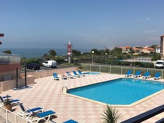 Anglet/Biarritz-Vue Ocean et Golf-Piscine+Parking