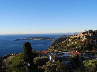 Stunning penthouse with panoramic views of Eze & Cap Ferrat