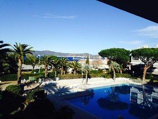 centre de St Tropez T3 piscine