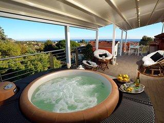 Amazing holidays home con jacuzzi, sauna e splendida terrazza vista mare