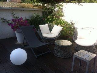 Villa cosy pour vacances en famille à 5minutes à pied des plages et des commerce