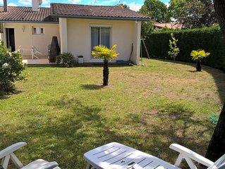 Maison a Le Teich Bassin d'Arcachon 100 m2 Jard clos 400m2. 3 ch.5 pers