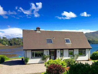 Lovely sea and mountain views, spacious Portree home