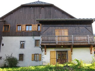Large triple aspect apartment in great ski resort (Grand Massif)