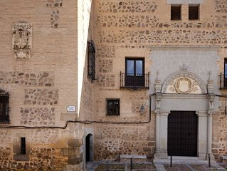 FAB PALACE WITH IMPRESSIVE VIEWS , GARDEN , POOL  BEHIND TOLEDO CATHEDRAL