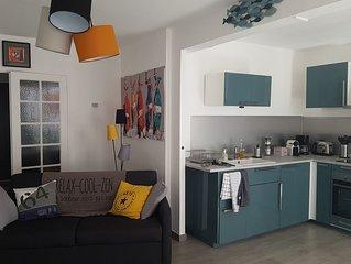 Appartement 54 m2 coeur de ville, calme,proche de la gare, du canal et commerces