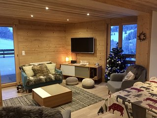 Luxury, family friendly apartment close to the ski slopes with stunning views