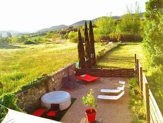 Maison Belle Vie,Holiday villa in Langedoc, South of France, Corbieres, Aude,
