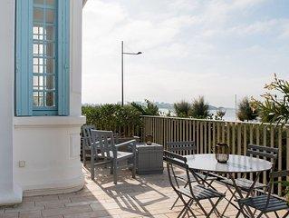 Villa Belle Epoque sur la plage, pleine vue mer