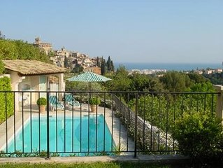 Nice apartment with pool near Nice. 4 pers, aircondition, internet