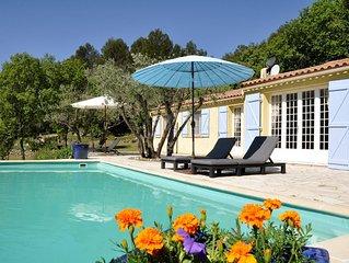 fantastisch gelegen vrijstaande villa met prive-zwembad voor 8 personen.