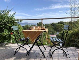 Ferienhaus in Giens mit traumhaftem Blick uber die Bucht von Almanarre