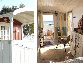 'Tiny House' mit Meerblick, Ostsee bei Kappeln, Glamping, ökologisch Reisen