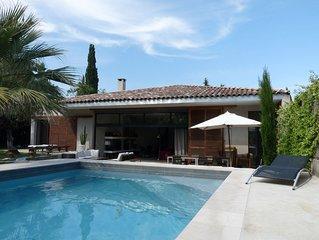 Grosses Ferienhaus mit Pool und  Garten in der Nähe von Montpellier und Strand