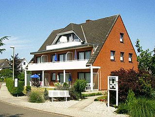 helle, moderne Ferienwohnung in Strandnahe mit Terrasse  Haus Malepartus Whg. 1