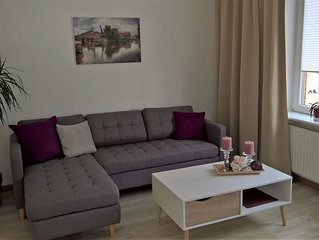 Moderne 2 Zimmerwohnung, 1. Etage separat im Einfamilienhaus, Lage City nah
