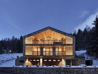 Luxuschalet in Sulden inmitten der Ortler Alpen mit privatem Spabereich