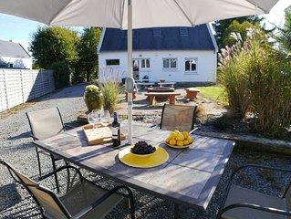 Schönes, komfortables Haus mit Garten & Terrasse, 350m vom Meer kostenloses WLAN