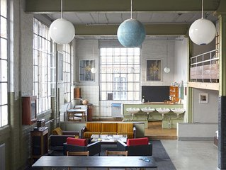 116 m² großes Loft im Industriestil, mitten in der Leipziger Baumwollspinnerei