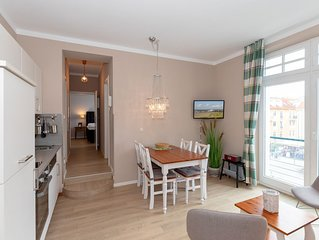"""Strandjuwel""-helles, komfortables Appartement 221 mit Schwimmbad / Strandstraße"