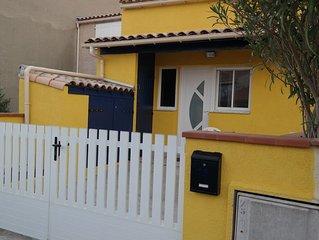 Haus mit Meerblick, kostenloses WLAN,integrierter Wintergarten, Terrassen,Garten