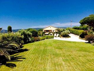 Villa vue mer a Ramatuelle a 2 minutes des plages de Pampelonne