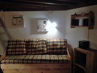 Grand studio très cosy, classé 2* meublé tourisme, skis aux pieds au Val Claret